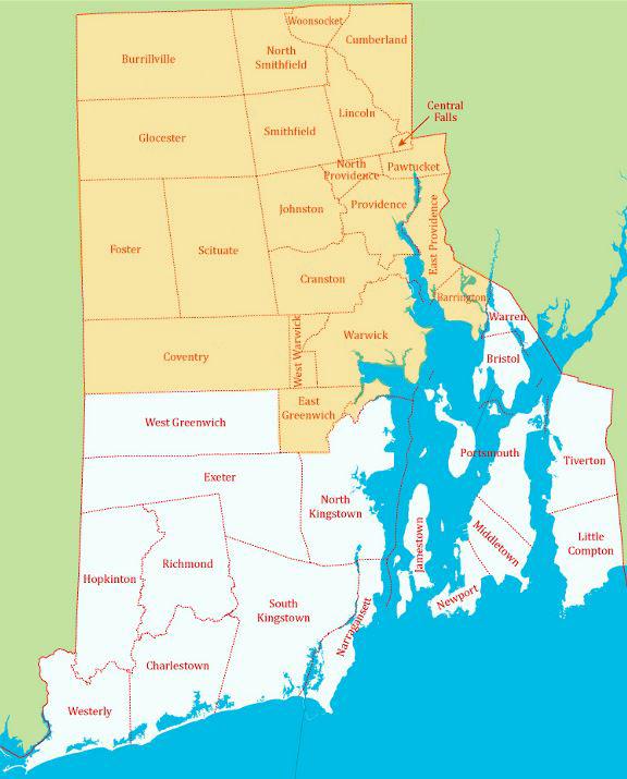 MulchRI Delivery Map 2019
